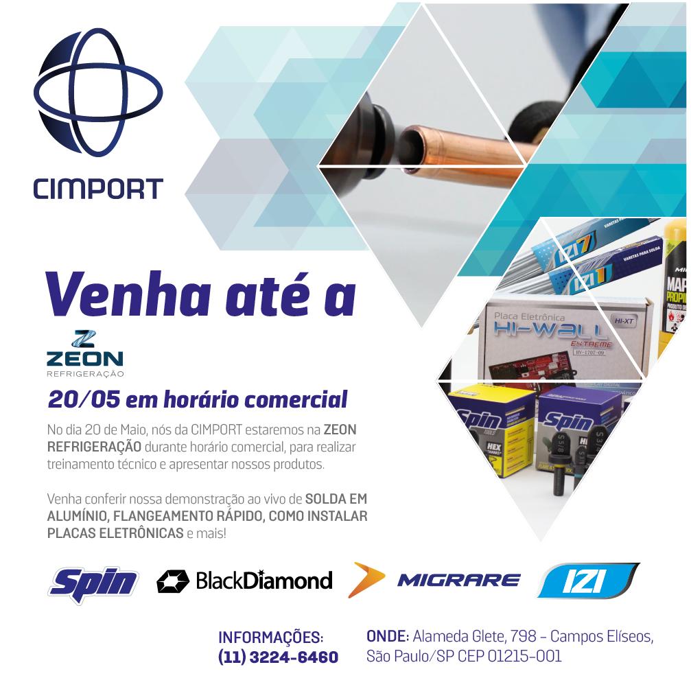 convite palestra Cimport Zeon
